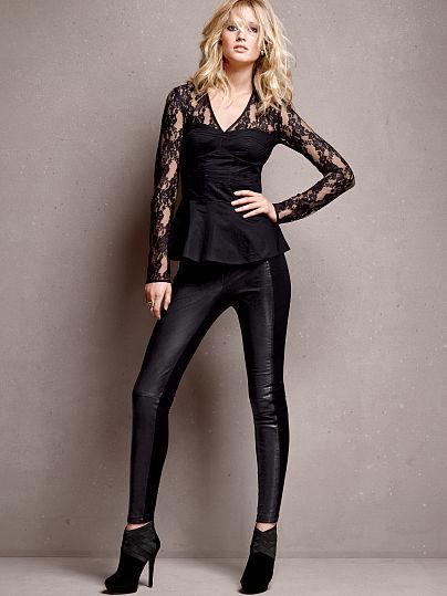 Victoria's Secret Ponte and Leather Legging