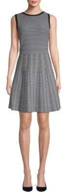 Saks Fifth Avenue BLACK Pattern Fit-&-Flare Dress