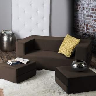 Zipcode Design Eugene Modular Loveseat & Ottoman Sleeper