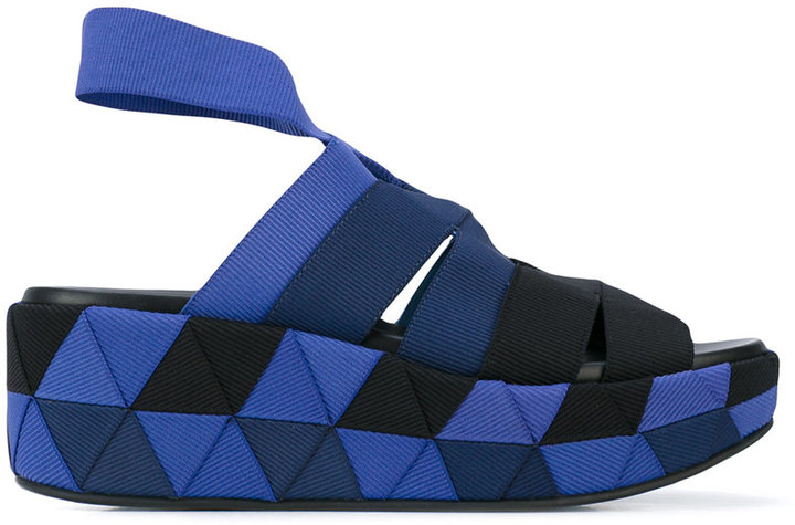 Salvatore Ferragamo Salvatore Ferragamo Origami weave wedge sandals