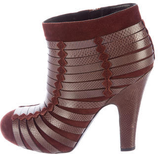 Bottega VenetaBottega Veneta Karung Round-Toe Ankle Boots