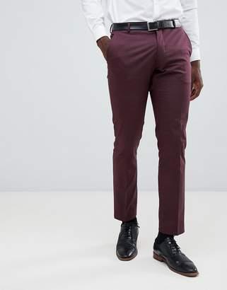 Selected Slim Fit Suit PANTS In Damson