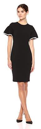 Calvin Klein Women's Flutter Sleeved Sheath Dress