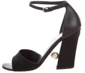 Chanel Pearl Embellished Sandals