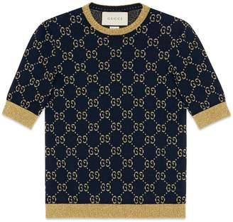 Gucci GG cotton lamé top