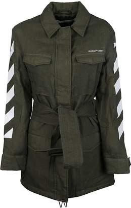 Off-White Off White Diagonal Striped Military Jacket