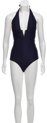 Heidi Klein Textured One-Piece Swismuit w/ Tags