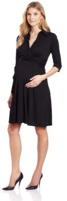 Maternal America Women's Maternity Knit Shirt Dress