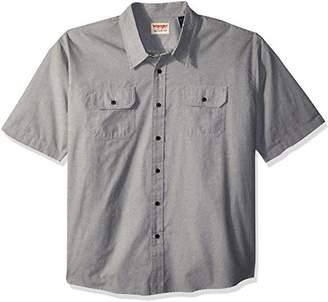 Wrangler Men's Big and Tall Authentics Short Sleeve Classic Woven Shirt