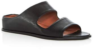 Aquatalia Women's Abbey Weatherproof Leather Hidden Wedge Slide Sandals