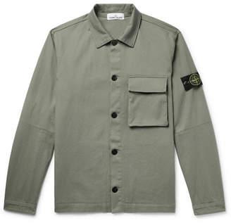 Stone Island Stretch-Cotton Gabardine Overshirt