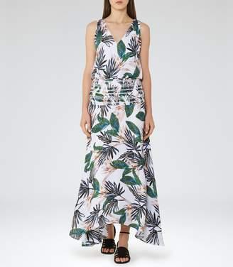 Reiss Maribel Palm-Print Maxi Dress