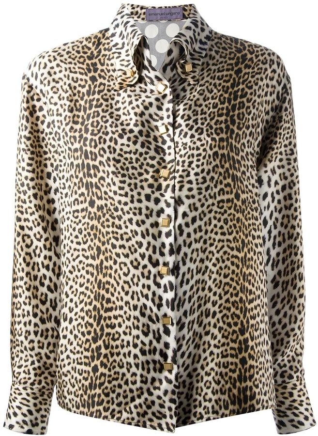Ungaro leopard print shirt