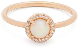 Irene Neuwirth Opal & rose-gold ring