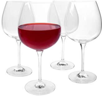 Artland Set Of Four 24Oz Burgundy Wine Glasses