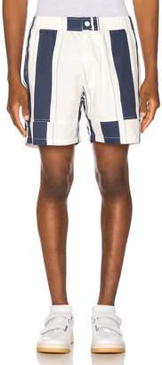 Jacquemus Striped Shorts in White & Blue | FWRD