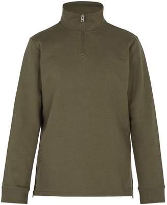 A.P.C. High-neck zip-up cotton-jersey sweatshirt