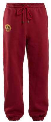 Burberry Logo Embroidered Drawstring Waist Track Pants - Womens - Red