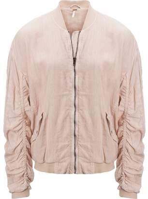 Free People Ruched Linen Bomber Jacket - Women's