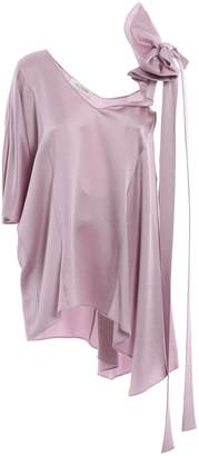 Valentino One Shoulder Bow Blouse