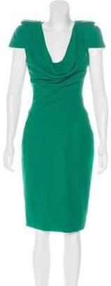 Alexander McQueen Cowl Neck Sheath Dress
