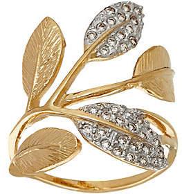 ADI Paz 1/5 cttw Diamond & 14K Gold Leaf Ring