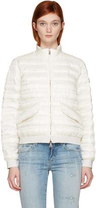 Moncler Ivory Down Violette Coat $850 thestylecure.com