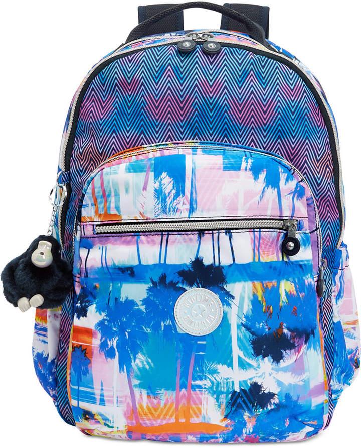 Kipling Seoul Go Large Backpack - BUSTLING PETALS/SILVER - STYLE