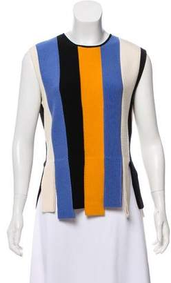 Salvatore Ferragamo Striped Wool Top