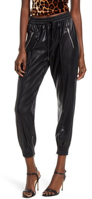 Blank NYC Blanknyc Running Wild Faux Leather Track Pants