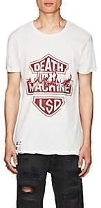 """Ksubi Men's """"Death Machine LSD"""" Cotton T-Shirt - White"""