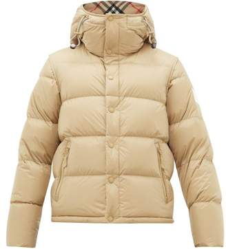 Burberry Detachable Sleeve Quilted Down Hooded Jacket - Mens - Camel