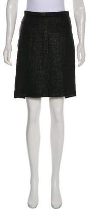 Peter Som Metallic-Accented Knee-Length Skirt
