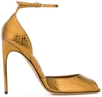 Brian Atwood snakeskin-effect sandals