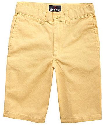 Class Club 8-20 Twill Flat Front Shorts