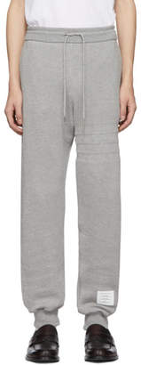 Thom Browne Grey Pique 4-Bar Lounge Pants