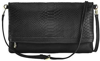 d63f18ed11 ... GiGi New York Carly Exotic Leather Convertible Clutch