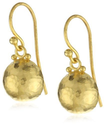 """Gurhan Dome"""" High Karat Gold Half Ball Dangling Earrings"""