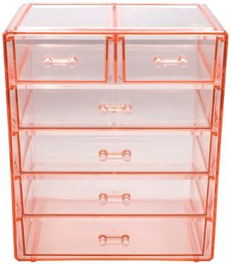 Sorbus Pink Makeup & Jewelry Storage Case Display