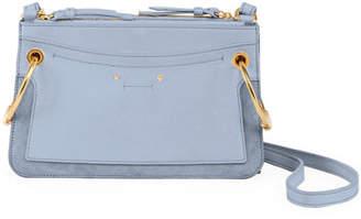 Chloé Roy Mini Leather/Suede Double-Zip Shoulder Bag