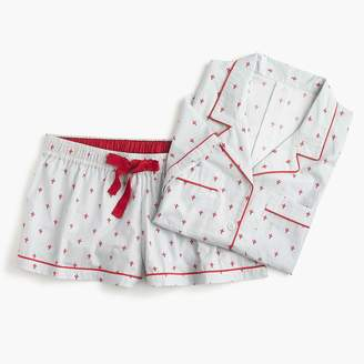 J.Crew Pajama set in fleur-de-lis