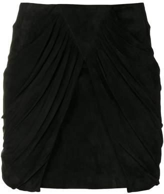Saint Laurent drape panel mini skirt