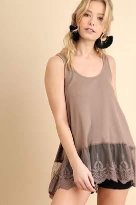 Umgee USA Ribbed Tank Fashion-Top