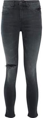 Rag & Bone Distressed Faded High-Rise Skinny Jeans