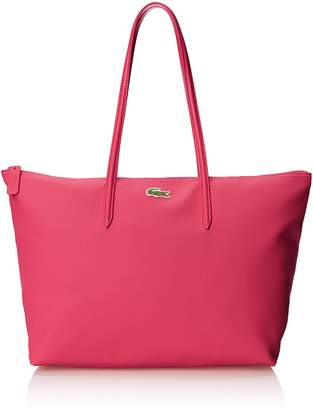 Lacoste Womens L.12.12 Concept Large Shopping Shoulder Bag, Petunia Pink, One