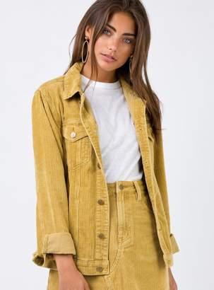 MinkPink Gold Empire Cord Girlfriend Jacket