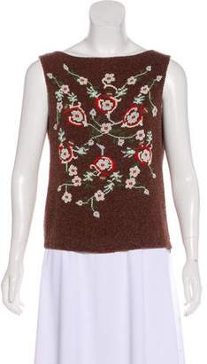Alberta Ferretti Embellished Sleeveless Top