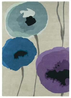 Sanderson Unitex International Poppies Rug Indigo/purple 45705