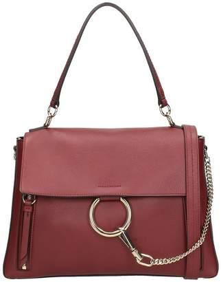 Chloé Faye Medium Burgundy Leather Shoulder Bag