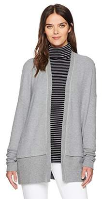 Three Dots Women's Brushed Sweater Long Loose Cardigan